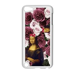 Mona Lisa Floral Black Apple Ipod Touch 5 Case (white)