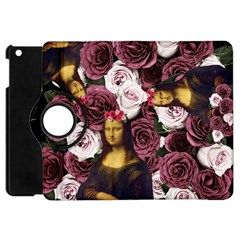Mona Lisa Floral Black Apple Ipad Mini Flip 360 Case