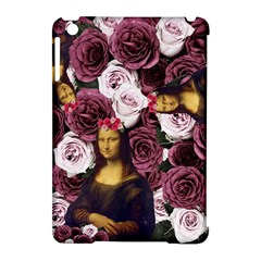 Mona Lisa Floral Black Apple Ipad Mini Hardshell Case (compatible With Smart Cover)