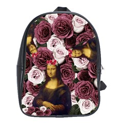 Mona Lisa Floral Black School Bag (xl)