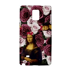 Mona Lisa Floral Black Samsung Galaxy Note 4 Hardshell Case