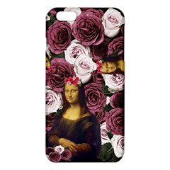 Mona Lisa Floral Black Iphone 6 Plus/6s Plus Tpu Case by snowwhitegirl