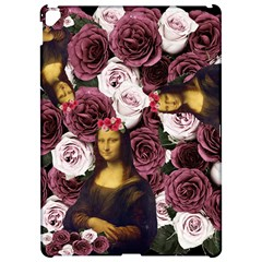 Mona Lisa Floral Black Apple Ipad Pro 12 9   Hardshell Case