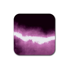 Ombre Rubber Square Coaster (4 Pack)  by Valentinaart