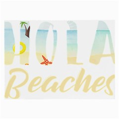 Hola Beaches 3391 Trimmed Large Glasses Cloth