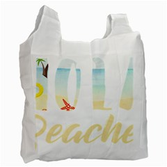 Hola Beaches 3391 Trimmed Recycle Bag (one Side)