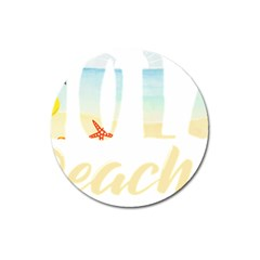 Hola Beaches 3391 Trimmed Magnet 3  (round)