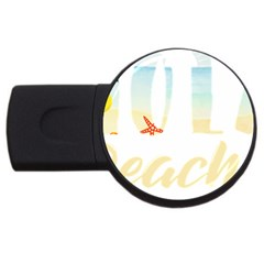 Hola Beaches 3391 Trimmed Usb Flash Drive Round (4 Gb)