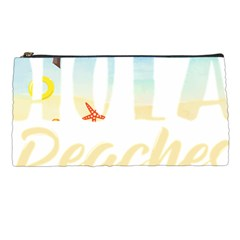 Hola Beaches 3391 Trimmed Pencil Cases
