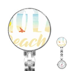 Hola Beaches 3391 Trimmed Stainless Steel Nurses Watch