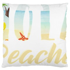 Hola Beaches 3391 Trimmed Large Flano Cushion Case (one Side)
