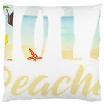 Hola Beaches 3391 Trimmed Large Flano Cushion Case (One Side) Front