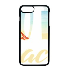 Hola Beaches 3391 Trimmed Apple Iphone 8 Plus Seamless Case (black)