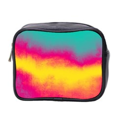 Ombre Mini Toiletries Bag (two Sides) by Valentinaart