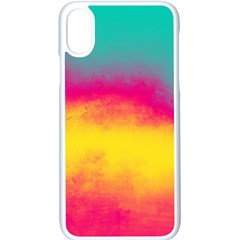 Ombre Apple Iphone X Seamless Case (white)