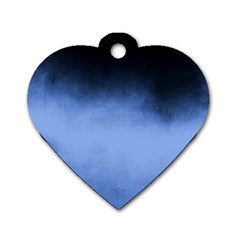 Ombre Dog Tag Heart (one Side) by Valentinaart