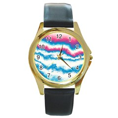 Ombre Round Gold Metal Watch