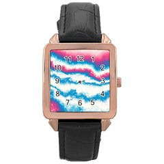 Ombre Rose Gold Leather Watch  by Valentinaart