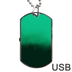 Ombre Dog Tag Usb Flash (two Sides)
