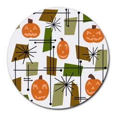 Halloween Mid Century Modern Round Mousepads by KayCordingly