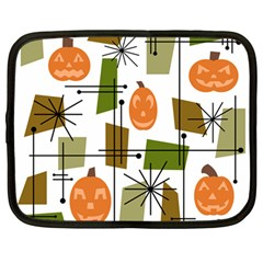 Halloween Mid Century Modern Netbook Case (large) by KayCordingly