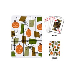 Halloween Mid Century Modern Playing Cards (mini)