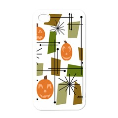 Halloween Mid Century Modern Apple Iphone 4 Case (white) by KayCordingly