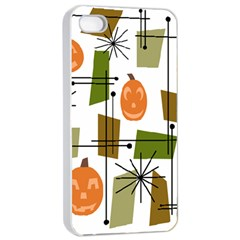 Halloween Mid Century Modern Apple Iphone 4/4s Seamless Case (white) by KayCordingly