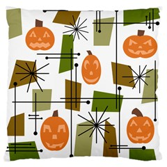 Halloween Mid Century Modern Large Cushion Case (one Side)