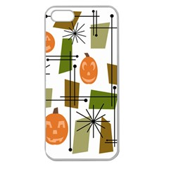 Halloween Mid Century Modern Apple Seamless Iphone 5 Case (clear) by KayCordingly