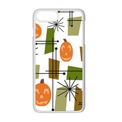 Halloween Mid Century Modern Apple Iphone 8 Plus Seamless Case (white) by KayCordingly