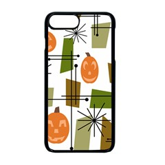 Halloween Mid Century Modern Apple Iphone 8 Plus Seamless Case (black) by KayCordingly