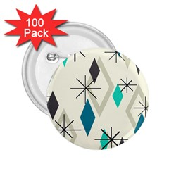 Atomic Era Diamonds (turquoise) 2 25  Buttons (100 Pack)  by KayCordingly