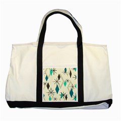Atomic Era Diamonds (turquoise) Two Tone Tote Bag