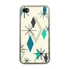 Atomic Era Diamonds (turquoise) Apple Iphone 4 Case (clear)