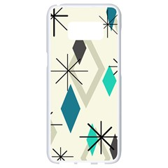 Atomic Era Diamonds (turquoise) Samsung Galaxy S8 White Seamless Case
