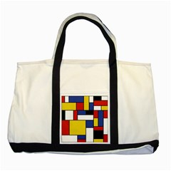 Mondrian Geometric Art Two Tone Tote Bag by KayCordingly