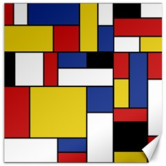 Mondrian Geometric Art Canvas 20  X 20  by KayCordingly