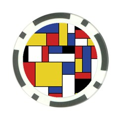 Mondrian Geometric Art Poker Chip Card Guard (10 Pack) by KayCordingly