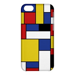 Mondrian Geometric Art Apple Iphone 5c Hardshell Case by KayCordingly