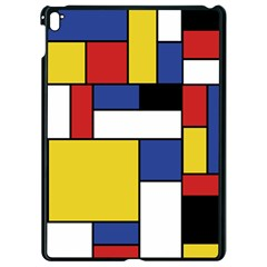 Mondrian Geometric Art Apple Ipad Pro 9 7   Black Seamless Case