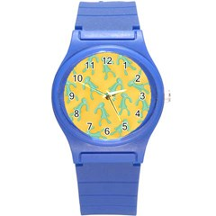 Bold And Brash Pattern Round Plastic Sport Watch (s)