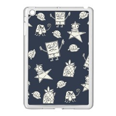 Doodle Bob Pattern Apple Ipad Mini Case (white) by Valentinaart