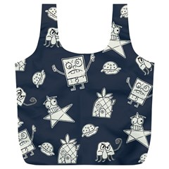 Doodle Bob Pattern Full Print Recycle Bag (xl)