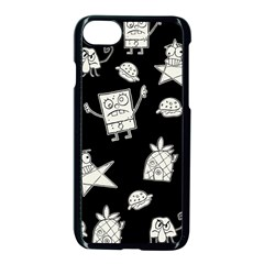 Doodle Bob Pattern Apple Iphone 7 Seamless Case (black)