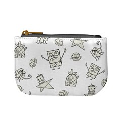 Doodle Bob Pattern Mini Coin Purse by Valentinaart