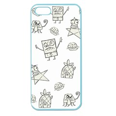 Doodle Bob Pattern Apple Seamless Iphone 5 Case (color)