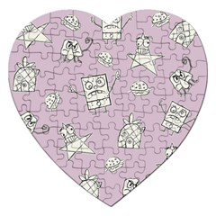 Doodle Bob Pattern Jigsaw Puzzle (heart)