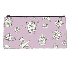 Doodle Bob Pattern Pencil Cases by Valentinaart