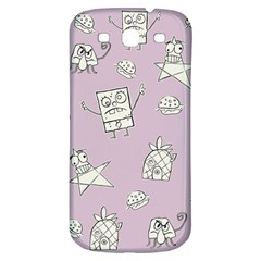 Doodle Bob Pattern Samsung Galaxy S3 S Iii Classic Hardshell Back Case by Valentinaart